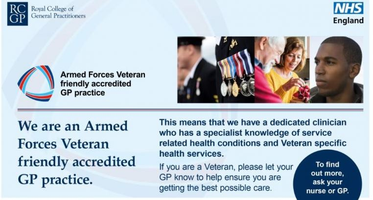 Image result for armed forces veteran friendly accredited gp practice